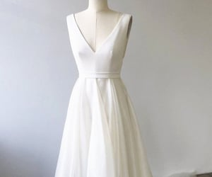 bridal gown, dresses, and wedding image