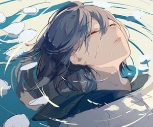anime, beautiful, and water image