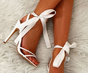 heels, white, and ankle image