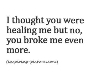 quotes, broken, and healing image