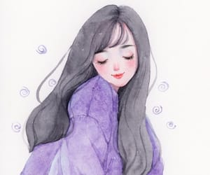 art, drawing, and girl image