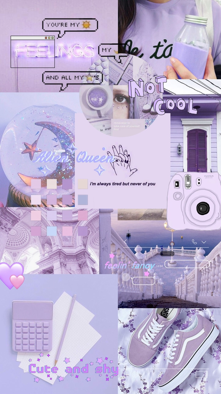 Purple Pastel Uploaded By On We Heart It
