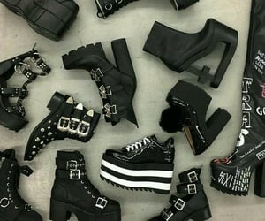 black, cool, and girly image