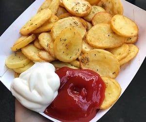 food, chips, and fries image