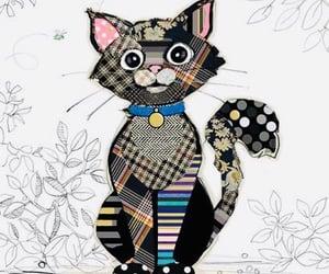 art, cat, and fantasy image