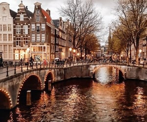 amsterdam, fall, and travel image