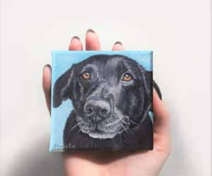 etsy, modern pet art, and miniature painting image