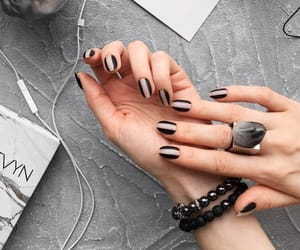 black nails and nails image