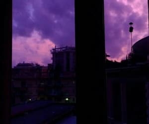 sky, aesthetic, and purple image