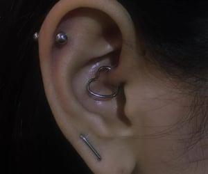 earrings, piercing, and grunge image