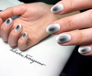 black nails, nails design, and simple nails image