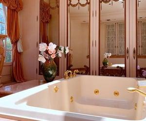 bathroom, luxury, and pink image