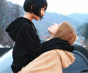 lesbian, ulzzang, and couple image