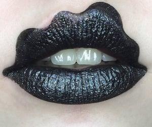 black, glitter, and make up image