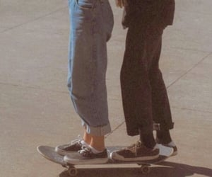 couple, 90s, and skate image