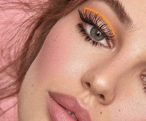 aesthetic, lipstick, and mascara image