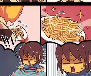 comic, lol, and frisk image