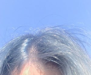 blue, hair, and sky image
