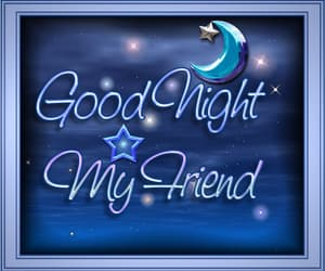 blue, good night, and greetings image
