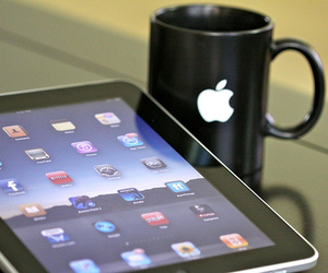 apple, ipad, and cup image