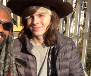 chandler, grimes, and carl grimes image