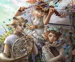 art, violin, and fantasy image