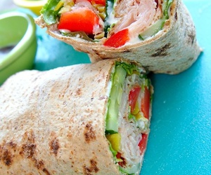 healthy, food, and wrap image