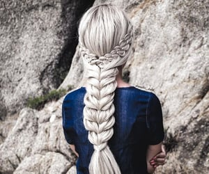braids, hair, and hair color image