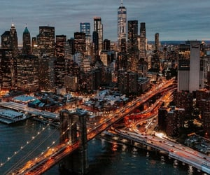 city, lights, and manhattan image