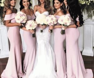 pink bridesmaid dress, wedding party dress, and bridesmaid dresses 2020 image