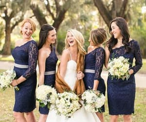 lace bridesmaid dress, wedding party dress, and wedding guest dress image