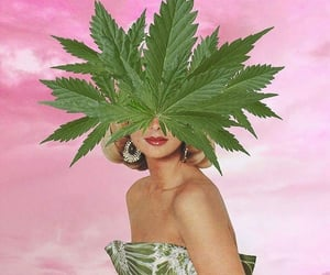 art, cannabis, and Collage image