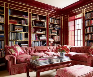 apartment, books, and decorate image