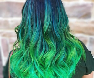 blue-green haircolor image