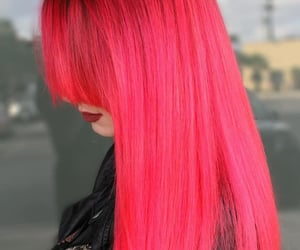 pink hair, neon hair, and neon pink hair color image