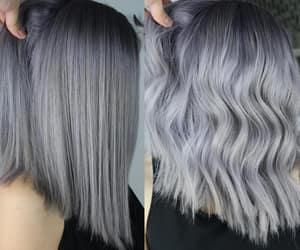 grey hair and silver hair image