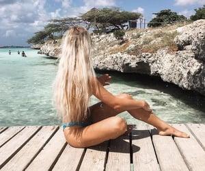 hair, Island, and summer image