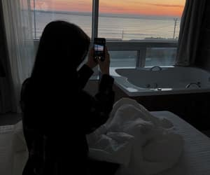 beach, faceless, and hotel image