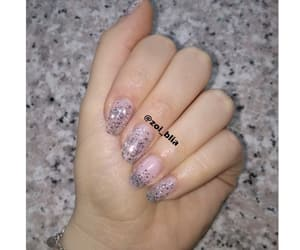 nails, sparkles, and sparkle nails image