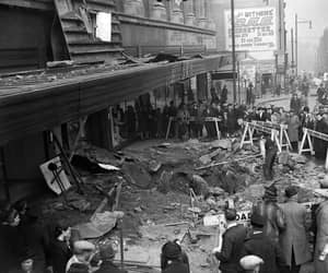 Birmingham and after the blitz in 1940. image