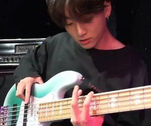bts, jungkook, and guitar image