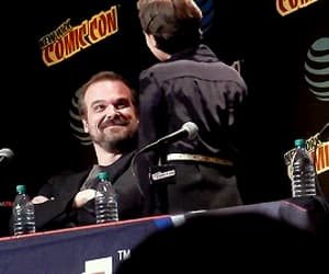 david harbour, stanger things, and stranger things cast image