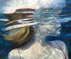 aesthetic, girl, and water image