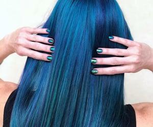 blue hair color image