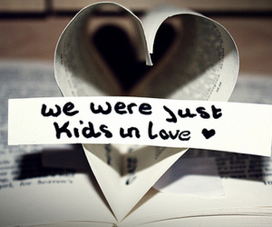 love, kids, and book image