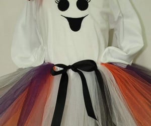 black and white, baby ghost costume, and etsy image