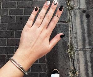 black, nails, and fall image