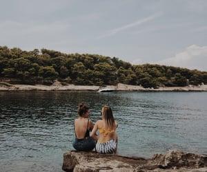 beach, beautiful, and best friend image