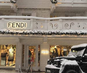 fendi, snow, and luxury image
