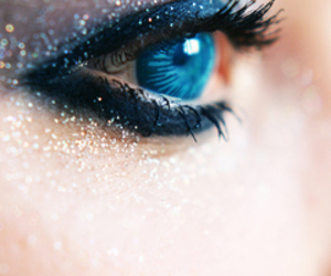 blue, cool, and eyeshadow image